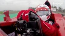 Ferrari, un giro onboard con Vettel a Fiorano