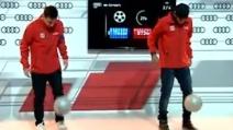 Messi e Neymar: fianco a fianco nella gara di palleggi