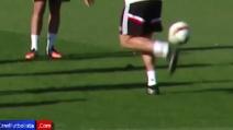 """Il """"trucco"""" di Cristiano Ronaldo in allenamento"""