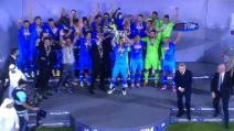 Il Napoli vince la Supercoppa Italiana 2014: la premiazione degli azzurri a Doha