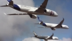 Francia, piloti si esibiscono in una spettacolare formazione a diamante