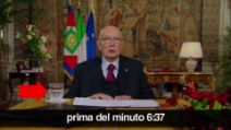 Il discorso di Napolitano, la prova che era registrato e tagliato