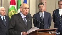 Giorgio Napolitano si dimette da Presidente della Repubblica