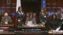 Il lungo applauso che la Camera dei Deputati riserva a Giorgio Napolitano