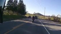 Il brutto incidente in moto di un biker