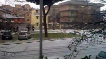 Roma, l'inizio della grandinata del 1°febbraio 2015