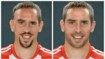 """La """"trasformazione"""" di Franck Ribéry con Photoshop"""