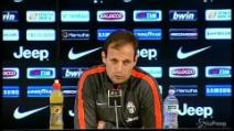 "Juventus, Allegri: ""Cassano? Per ora arriva solo Sturaro"""