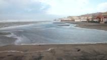 Mareggiate e forte vento al Lido di Ostia