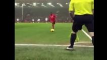 La rabona di Mario Balotelli contro il Tottenham