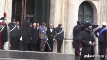 Insediamento Presidente Mattarella: il passaggio delle Frecce Tricolori all'uscita da Montecitorio