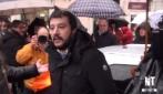"""""""Vattene, non ti vogliamo"""", Salvini contestato a L'Aquila"""