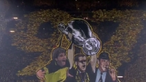 Champions, la spettacolare coreografia dei tifosi del Borussia Dortmund