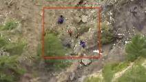 Germanwings: le prime immagini dei soccorritori sul luogo dello schianto