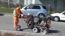 Riecco lo stradino di Sondrio, segnaletica stradale a tempo di record