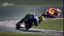 Motogp, in Qatar podio azzurro: Rossi, Dovizioso e Iannone