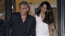 Una serata romantica a New York per George Clooney e Amal Alamuddin
