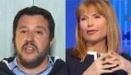 Lilli Gruber interroga Salvini sulla Isoardi, lui risponde infastidito