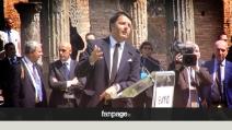 """Renzi a Pompei: """"Scavi ed Expo, sfide per cambiare l'Italia"""""""