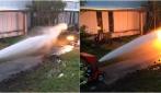 Cannone d'acqua contro una macchina sputa fuoco, chi vincerà?