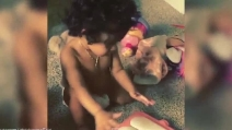 Chris Brown posta su Instagram il video di sua figlia Royalty che gioca