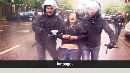 """Attivista arrestata, il poliziotto: """"Arrestiamo 'sta puttana"""""""