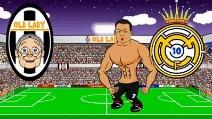Ecco come la Juve ha battuto il Real, la parodia della semifinale Champions