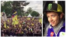 MotoGp a Le Mans: l'accoglienza dei tifosi francesi a Valentino Rossi