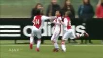 I piccoli campioni dell'Ajax imitano l'esultanza di Cristiano Ronaldo