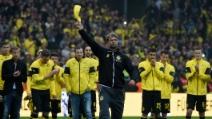 Le lacrime di Jurgen Klopp nel giorno dell'addio al Borussia Dortmund