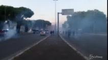 Roma, scontri tra tifosi prima del derby