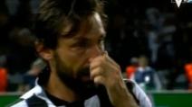 Le lacrime di Andrea Pirlo dopo la sconfitta in finale di Champions League
