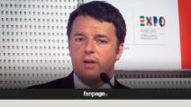 """Renzi ad Expo: """"Emergenza legalità: rabbia per chi ruba sui più poveri"""""""