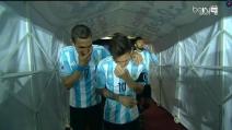 """""""Che ha detto? Una stupidaggine?"""" Messi e Di Maria deridono Martino?"""