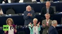 Strasburgo, standing ovation per Tsipras al Parlamento Europeo