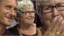 Nonna fan di Totti incontra il suo idolo e scoppia in lacrime