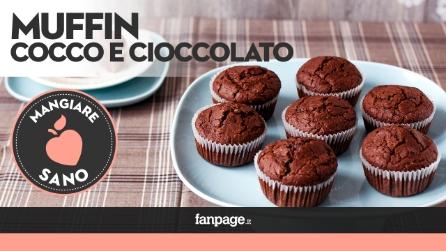 La ricetta dei Muffin al Cocco e cioccolato, una soffice delizia
