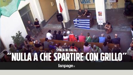 """Syriza prende le distanze: """"Nulla a che spartire con Grillo"""""""