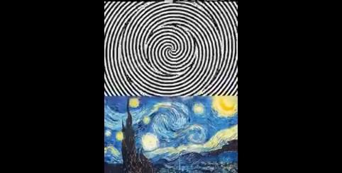 Fissa per 30 secondi il movimento ipnotico, poi guarda la 'Notte Stellata': incredibile!