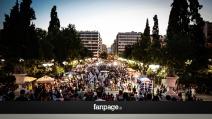 """Vittoria del """"No"""", i festeggiamenti in piazza Syntagma"""