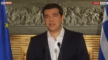 """Tsipras: """"Non un referendum per uscire dall'Europa, ma per un'altra Europa"""""""