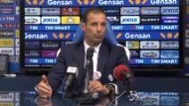 """Allegri: """"Vittoria importante a Empoli non era facile"""""""
