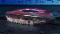Il nuovo stadio dell'Atletico Madrid, un gioiello di luci e colori