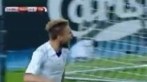 Macedonia-Italia, pareggio degli azzurri: gol di Immobile, la sua esultanza