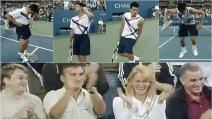 Novak Djokovic imita Sharapova e Nadal prima del match: esilarante!