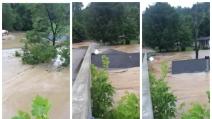 Una violenta inondazione spazza via le case: le immagini da brividi