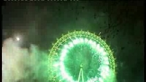 Capodanno a Londra - Fuochi d'artificio sul London Eye
