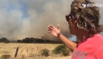 """""""Tutta colpa dell'uomo"""" Jimmy Ghione documenta l'incendio a San Teodoro"""
