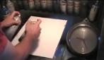 L'artista super veloce: guardate cosa riesce a fare in pochi secondi