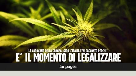 """La carovana della canapa: """"Giro l'Italia per dire che è il momento di legalizzare la cannabis"""""""
